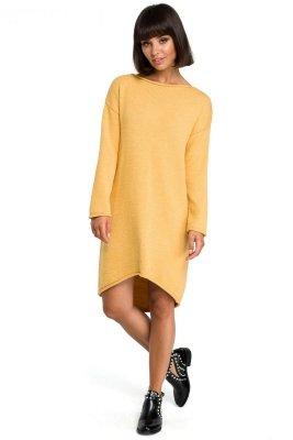 BK006 Sukienka swetrowa - miodowa