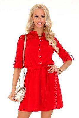 Amrosin Red 85211 sukienka koszulowa