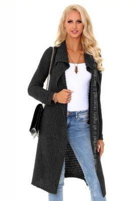 Mayamino Graphite sweter - płaszczyk