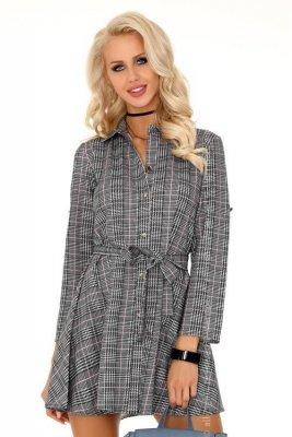 Merchea Grey Pink 85336 sukienka koszulowa