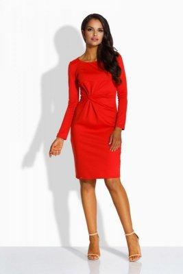 1 L225 Sukienka czerwona PROMO