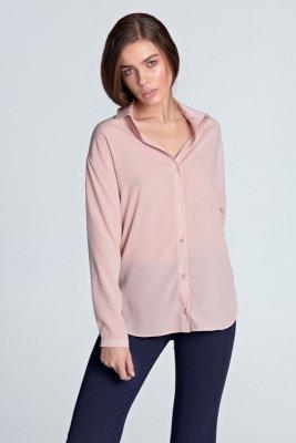 Koszula oversize - róż - K53