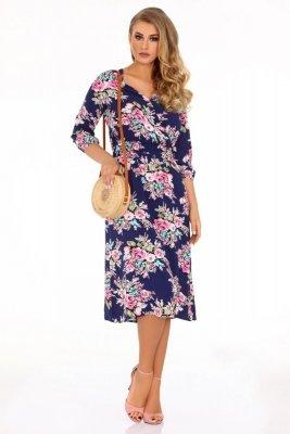 Sridevi Navy Blue 85489 sukienka