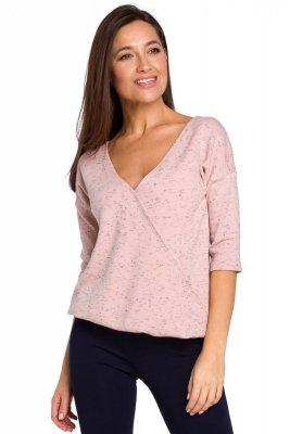 S150 Sweterek z gumką na dole - różowy