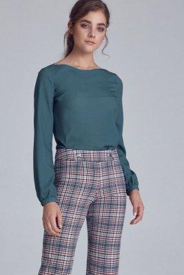 Bluzka z bufiastymi rękawami - zielony - B106