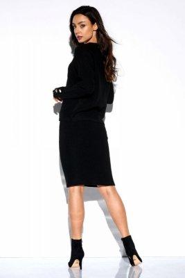 Elegancki komplet sweter i spódnica LSG118 czarny