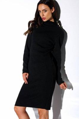1 Sukienka swetrowa  LS271 czarny PROMO