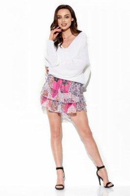 Zwiewna spódniczka z jedwabiem LG545 druk 16