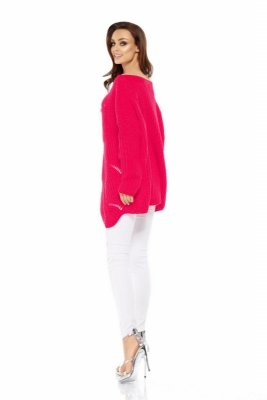1 Sweter LS209 malina PROMO