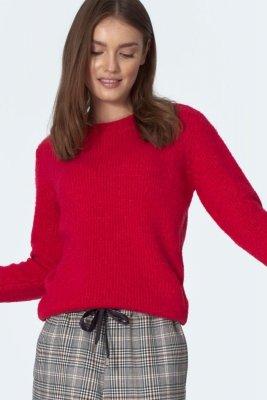 Klasyczny malinowy sweter - SW07
