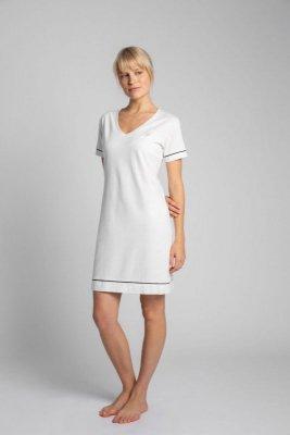 LA021 Bawełniana koszula nocna - ecru