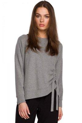 S252 Sweterek z trokami - szary