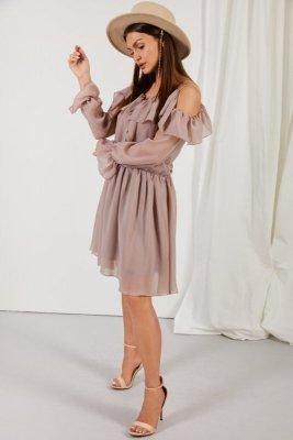 Sukienka L329 capucino