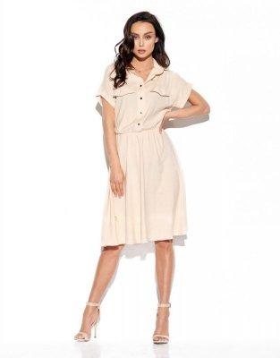 1 Sukienka  L331 beżowy PROMO