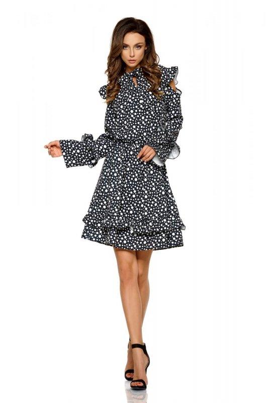 Modna sukienka z wyciętymi ramionami L276 krop