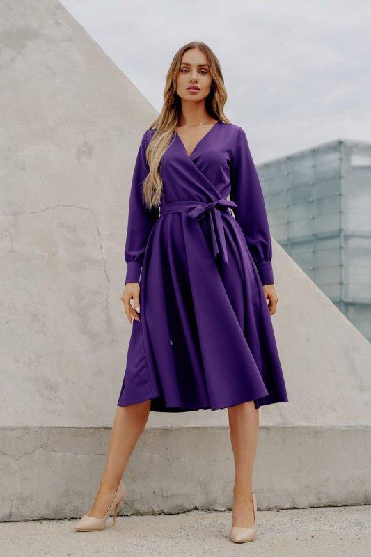 Sukienka L392A fiolet