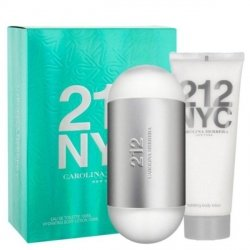 Carolina Herrera 212 NYC Zestaw - EDT 100 ml + BL 100 ml