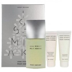 Issey Miyake L'eau d'Issey pour Homme Zestaw - EDT 125 ml + SG 75 ml + ASB 75 ml