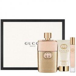 Gucci Guilty pour Femme Zestaw - EDP 90 ml + EDP 7.4 ml + BL 50 ml