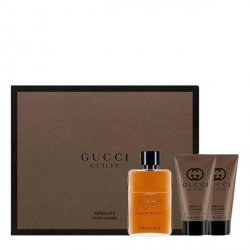 Gucci Guilty Absolute Zestaw - EDP 50 ml + ASB 50 ml + SG 50 ml