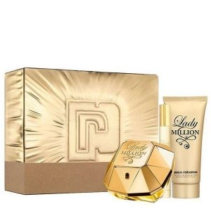 Paco Rabanne Lady Million Zestaw - EDP 80 ml + EDP 10 ml + BL 100 ml