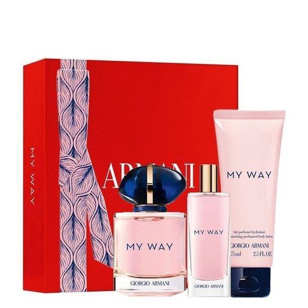 Giorgio Armani My Way Set - Eau de Parfum 50 ml + Eau de Parfum 15 ml + Perfumed Body Lotion 75 ml