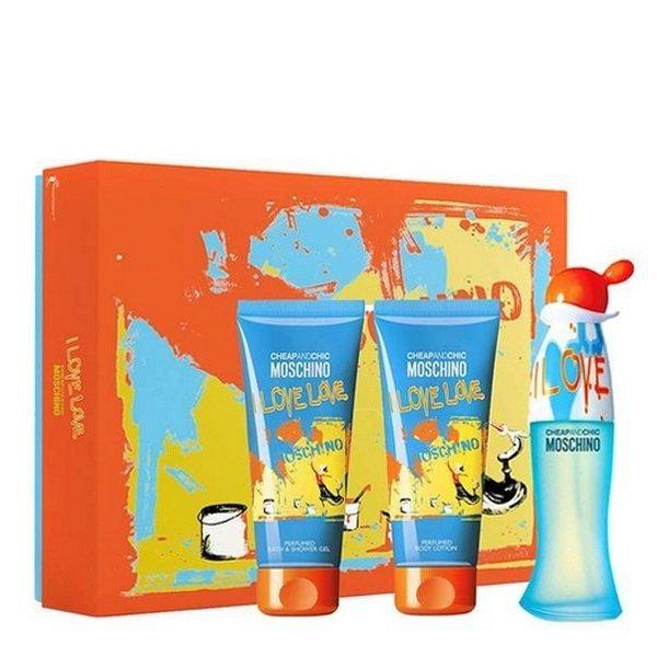 Moschino Cheap and Chic I Love Love Set - Eau de Toilette 50 ml + Perfumed Shower Gel 100 ml + Perfumed Body Lotion 100 ml