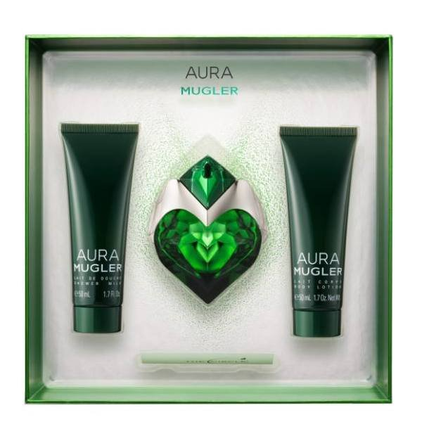 Thierry Mugler Aura Set - Eau de Parfum 50 ml + Body Lotion 50 ml + Shower Milk 50 ml