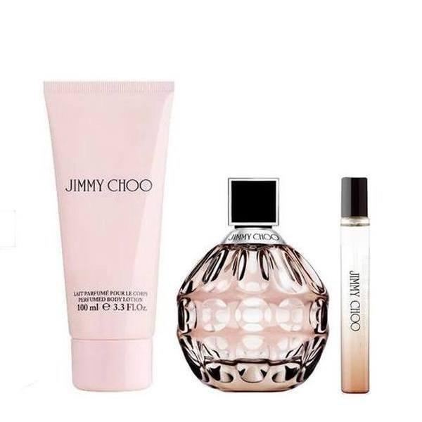 Jimmy Choo Set - Eau de Parfum 100 ml + Eau de Parfum 7.5 ml + Body Lotion 100 ml