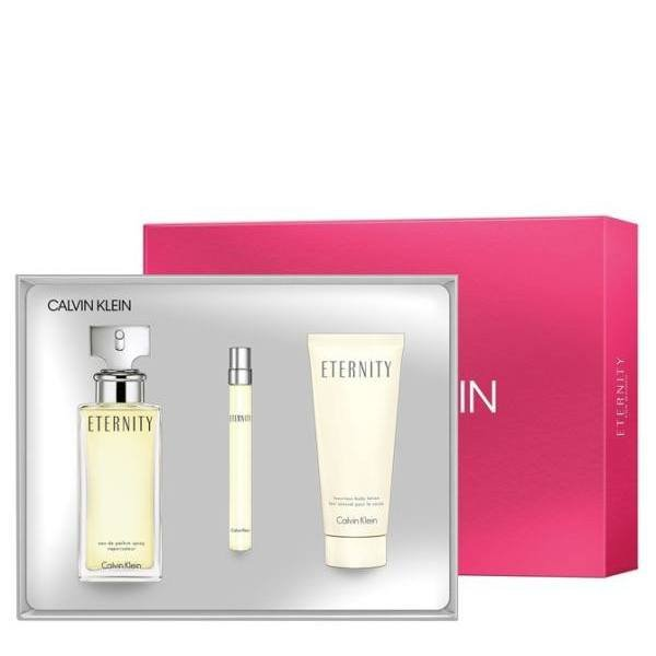 Calvin Klein Eternity Set - Eau de Parfum 100 ml + rollerball EDP 10 ml + Body Lotion 100 ml