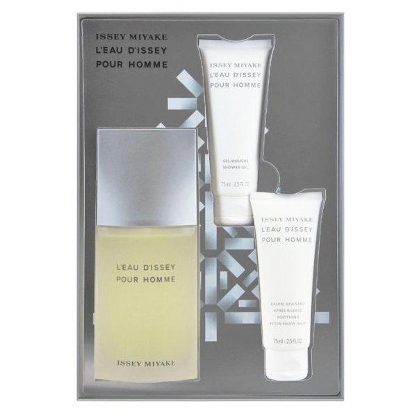 Issey Miyake L'eau d'Issey pour Homme Set - Eau de Toilette 125 ml + Shower Gel 75 ml + After Shave Balm 75 ml