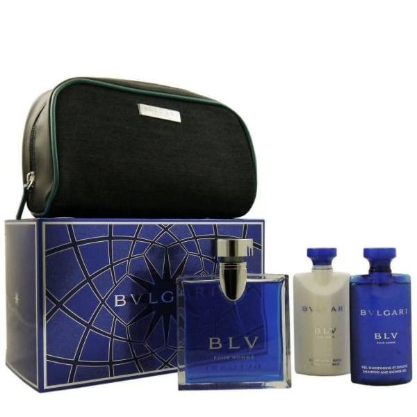 Bvlgari BLV Pour Homme Set - Eau de Toilette 100 ml + After Shave Balm 75 ml + Shower Gel 75 ml + Pouch
