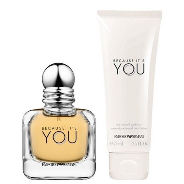 Giorgio Armani Because It's You Set - Eau de Parfum 50 ml + Body Lotion 75 ml
