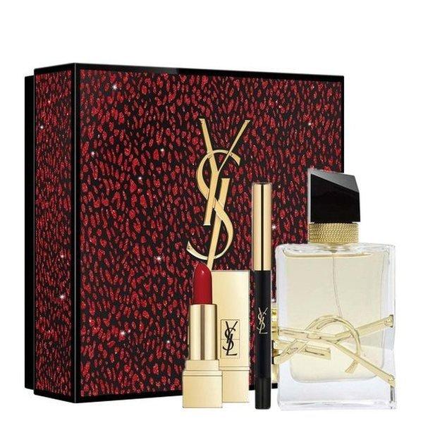 Yves Saint Laurent Libre Set - Eau de Parfum 50 ml + Lipstick Rouge Pur Couture No.1 1.3 g + Waterproof Eye Pencil No.1 0.8 g