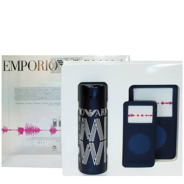 Emporio Armani Remix He Set - EDT 50 ml/1.7 oz + MP3 cases kit