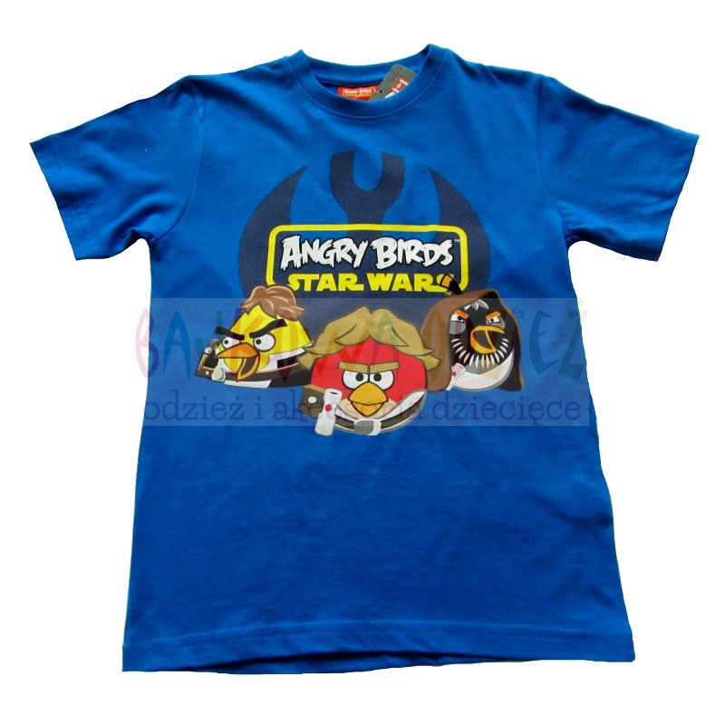 T-shirt Angry Birds Star Wars kolor niebieski
