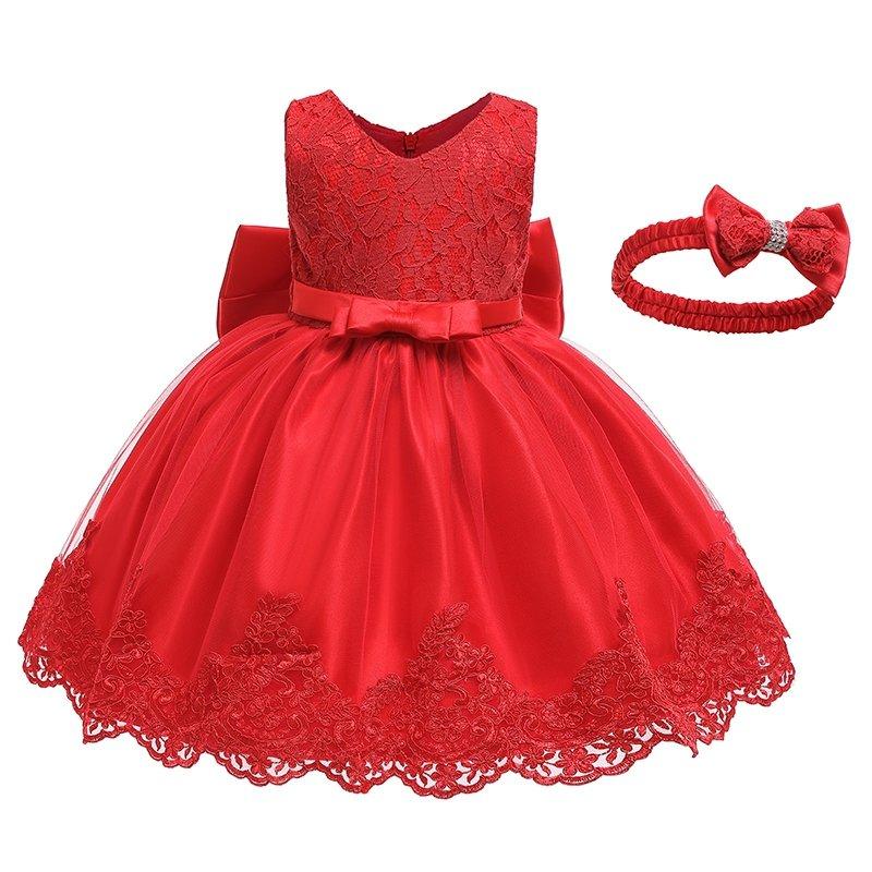 Sukienka czerwona + opaska Laura