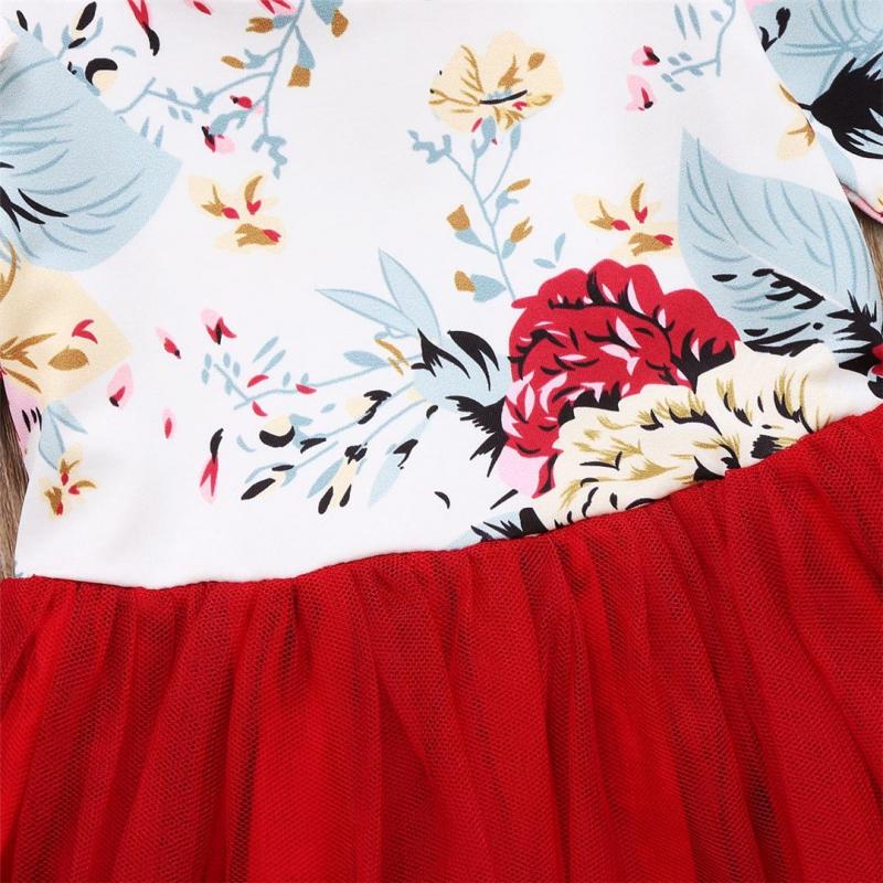Tiulowa sukienka kwiatuszki na roczek