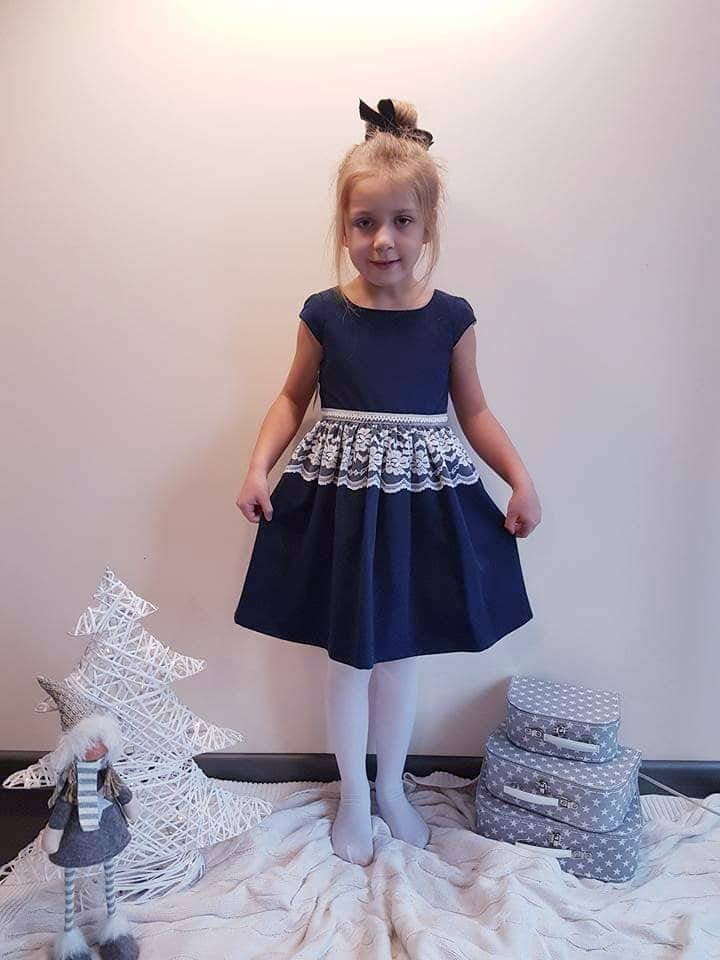 Sukienka granatowa świąteczna Alicja