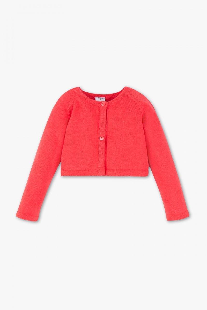 Bolerko sweterek czerwone