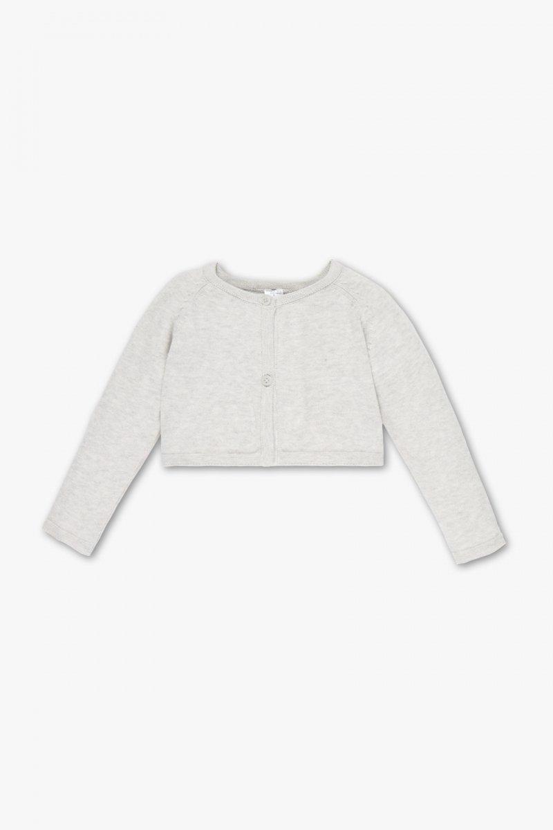 Bolerko sweterek szare