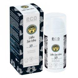 Eco Cosmetics Emulsja na słońce SPF 30 dla skóry z tatuażami z ekstraktem z noni Tattoo Care 100 ml (termin: 06.2020)