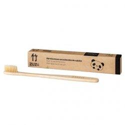 ZUZII Bambusowa szczoteczka do zębów dla dorosłych, beżowa