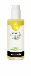 Sonett Olejek do ciała i masażu Cytryna – Limba, z rytmizowanym ekstraktem z jemioły