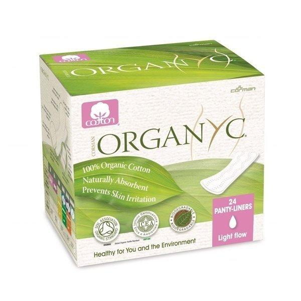 ORGANYC Wkładki higieniczne Ultra cienkie  z bio-bawełny 24 szt.
