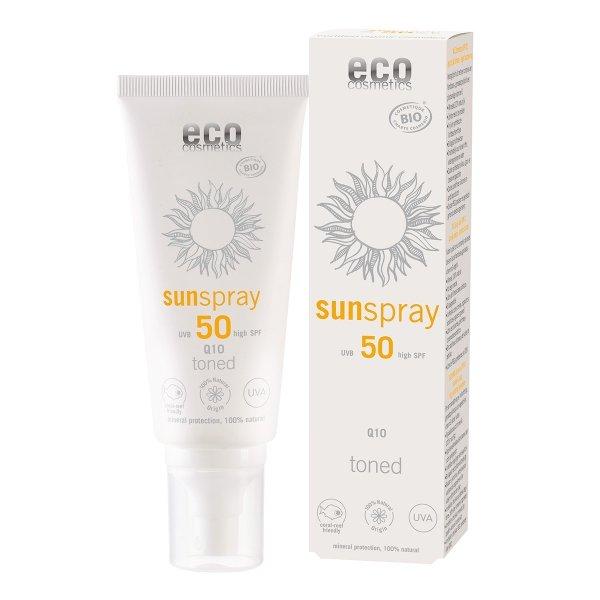 Eco Cosmetics Spray na słońce z Q10 Tonowany SPF 50 100 ml