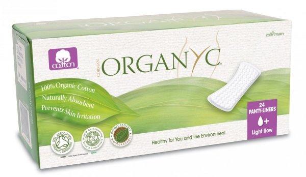 ORGANYC Wkładki higieniczne cienkie z bio-bawełny 24 szt.