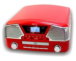Gramofon z CD/MP3/USB/SD/nagrywaniem Camry CR 1134 R