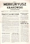 Merkuryusz Krakowski Extraordynaryjny. Nr: 22 I 1914.