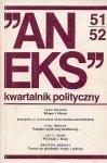 Aneks - kwartalnik polityczny. Nr 51/52.
